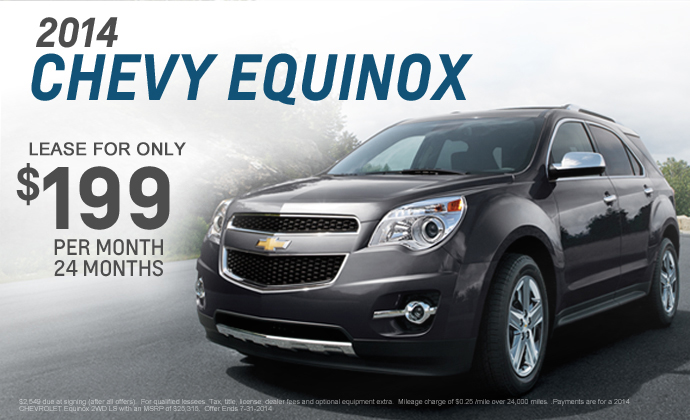 Chevrolet Lease Deals >> 2014 Chevy Equinox Chevy Dealer Eau Claire Menomonie