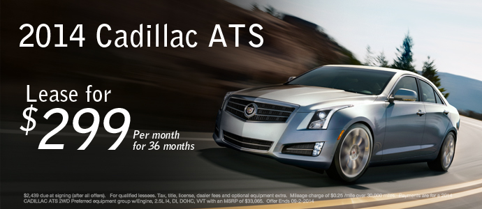 2014 Cadillac ATS Lease | Eau Claire, Wisconsin Cadillac ...