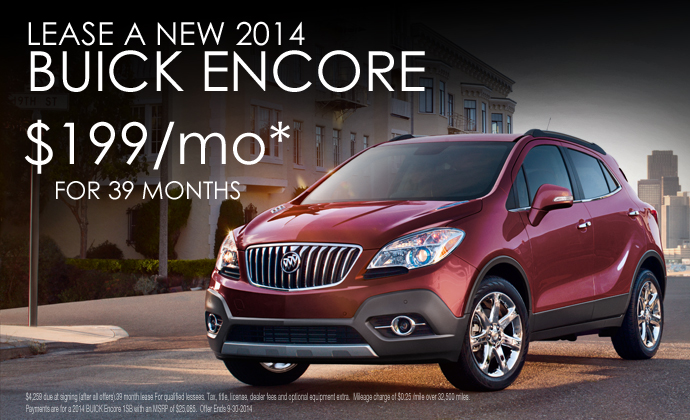 Buick Suv Lease >> 2014 Encore Lease Buick Dealer Eau Claire Wausau Rice Lake