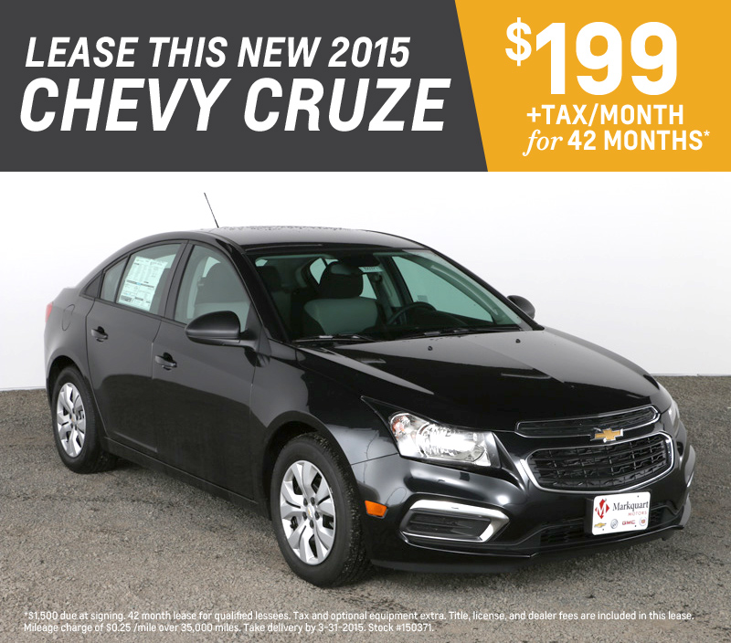 Chevrolet Leases: Lease Deals On Chevy Cruze