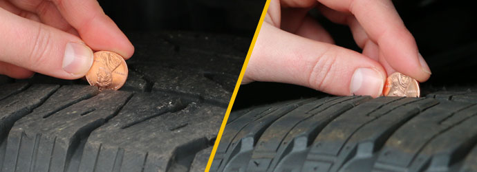 How To Measure Tire Tread >> Time To Replace Your Tires Measure Your Tire Tread Refence