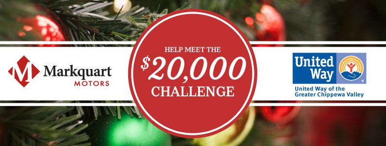 Markquart offering $20,000 challenge grant to the United Way of Eau Claire, WI.