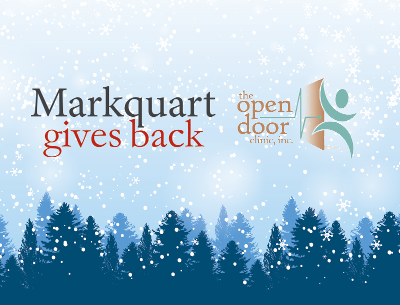Open Door Clinic Markquart Gives Back Community