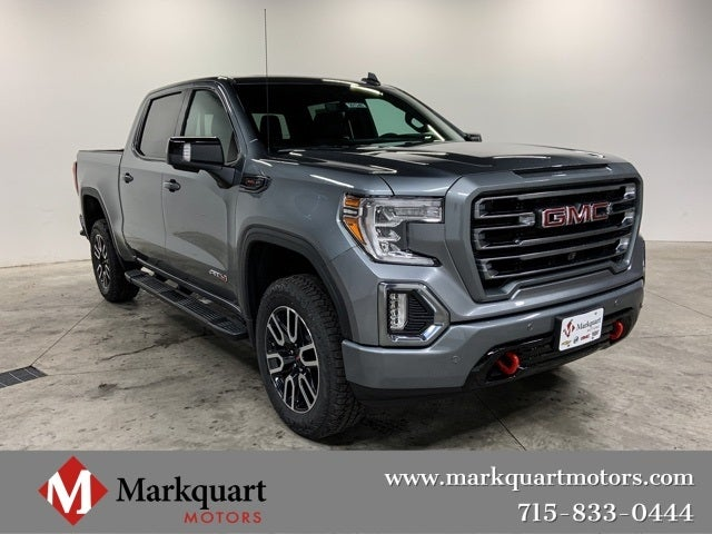 New Truck 2020 Satin Steel Metallic Gmc Sierra 1500 At4 For Sale In Nc 3gtp9eel1lg167892
